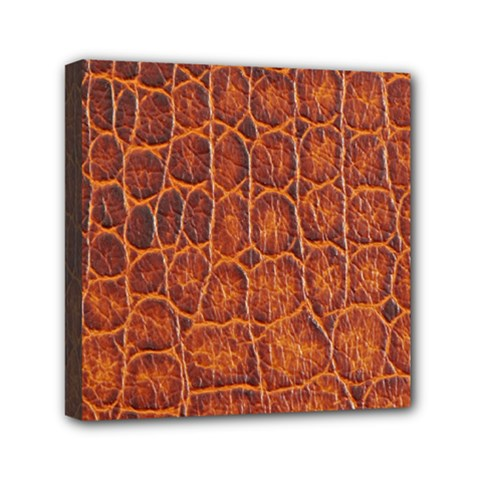 Crocodile Skin Texture Mini Canvas 6  X 6  by BangZart