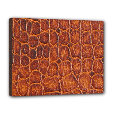 Crocodile Skin Texture Canvas 14  X 11  by BangZart