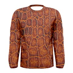Crocodile Skin Texture Men s Long Sleeve Tee