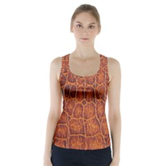 Crocodile Skin Texture Racer Back Sports Top