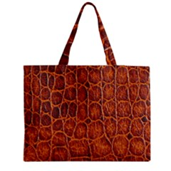 Crocodile Skin Texture Medium Zipper Tote Bag by BangZart