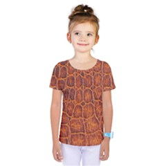 Crocodile Skin Texture Kids  One Piece Tee