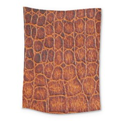 Crocodile Skin Texture Medium Tapestry by BangZart