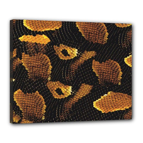 Gold Snake Skin Canvas 20  X 16