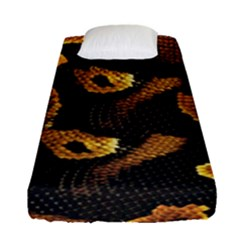 Gold Snake Skin Fitted Sheet (single Size)