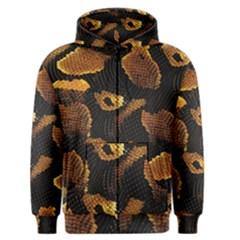 Gold Snake Skin Men s Zipper Hoodie