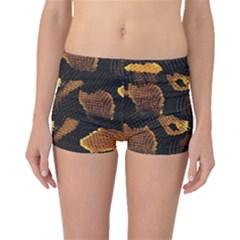 Gold Snake Skin Boyleg Bikini Bottoms