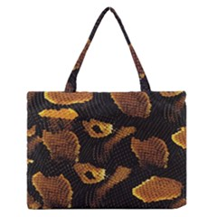 Gold Snake Skin Medium Zipper Tote Bag