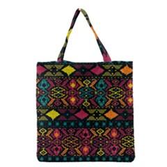 Bohemian Patterns Tribal Grocery Tote Bag by BangZart