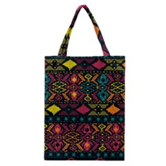 Bohemian Patterns Tribal Classic Tote Bag by BangZart