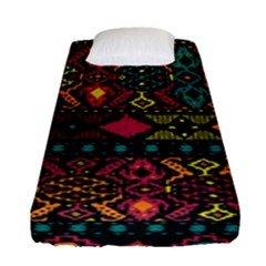 Bohemian Patterns Tribal Fitted Sheet (single Size)