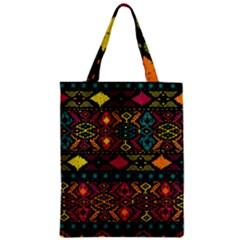 Bohemian Patterns Tribal Zipper Classic Tote Bag