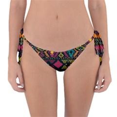Bohemian Patterns Tribal Reversible Bikini Bottom by BangZart
