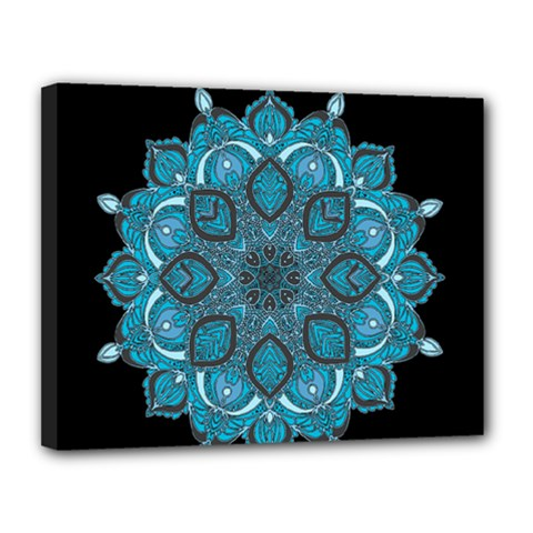 Ornate Mandala Canvas 14  X 11  by Valentinaart