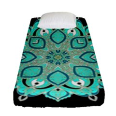 Ornate Mandala Fitted Sheet (single Size) by Valentinaart