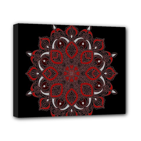 Ornate Mandala Canvas 10  X 8  by Valentinaart