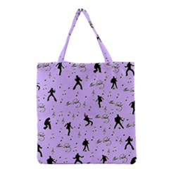 Elvis Presley  pattern Grocery Tote Bag