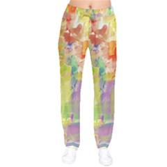Paint Texture                   Velvet Drawstring Pants by LalyLauraFLM