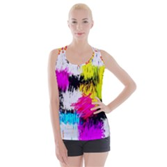 Colorful Blurry Paint Strokes                        Crisscross Back Tank Top