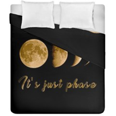 Moon Phases  Duvet Cover Double Side (california King Size) by Valentinaart