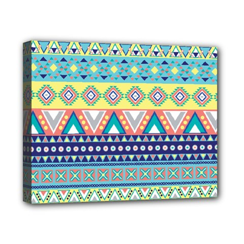 Tribal Print Canvas 10  X 8