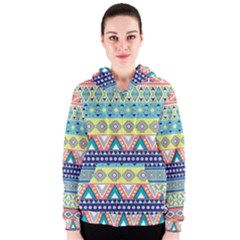 Tribal Print Women s Zipper Hoodie
