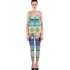 Tribal Print Onepiece Catsuit