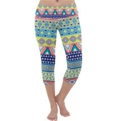 Tribal Print Capri Yoga Leggings