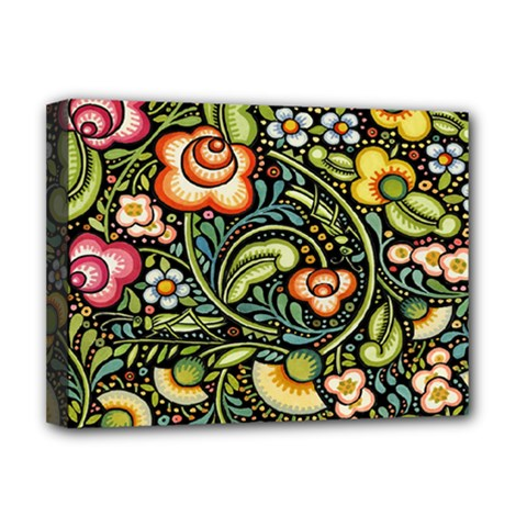 Bohemia Floral Pattern Deluxe Canvas 16  X 12   by BangZart