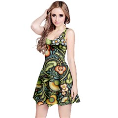 Bohemia Floral Pattern Reversible Sleeveless Dress