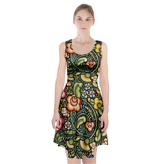 Bohemia Floral Pattern Racerback Midi Dress