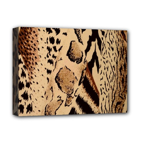 Animal Fabric Patterns Deluxe Canvas 16  X 12   by BangZart