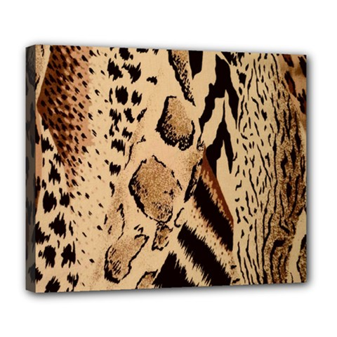 Animal Fabric Patterns Deluxe Canvas 24  X 20   by BangZart