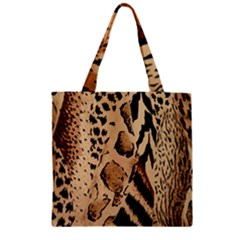 Animal Fabric Patterns Zipper Grocery Tote Bag by BangZart