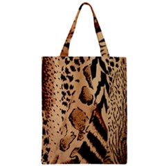 Animal Fabric Patterns Zipper Classic Tote Bag