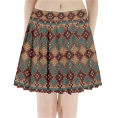 Knitted Pattern Pleated Mini Skirt
