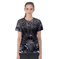 Spider Web Wallpaper 14 Women s Sport Mesh Tee