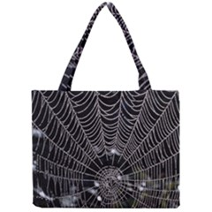 Spider Web Wallpaper 14 Mini Tote Bag
