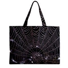 Spider Web Wallpaper 14 Zipper Mini Tote Bag by BangZart