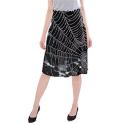Spider Web Wallpaper 14 Midi Beach Skirt