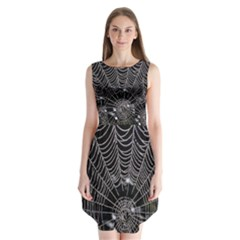 Spider Web Wallpaper 14 Sleeveless Chiffon Dress