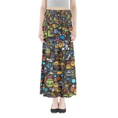 Many Funny Animals Full Length Maxi Skirt