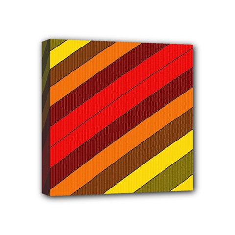 Abstract Bright Stripes Mini Canvas 4  X 4  by BangZart