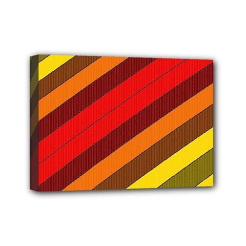 Abstract Bright Stripes Mini Canvas 7  X 5  by BangZart