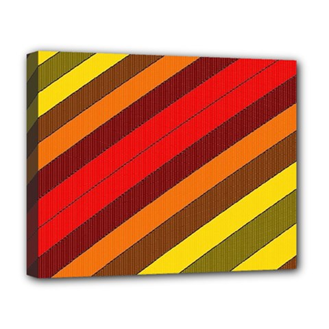 Abstract Bright Stripes Deluxe Canvas 20  X 16