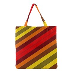 Abstract Bright Stripes Grocery Tote Bag
