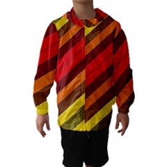Abstract Bright Stripes Hooded Wind Breaker (kids)