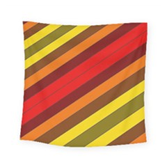 Abstract Bright Stripes Square Tapestry (small) by BangZart