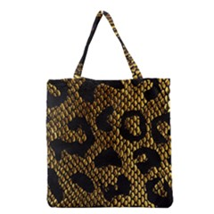 Metallic Snake Skin Pattern Grocery Tote Bag