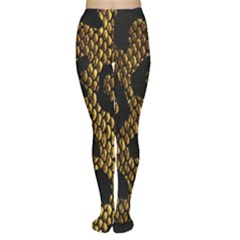 Metallic Snake Skin Pattern Women s Tights